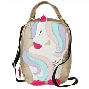 NWT BETSEY JOHNSON UNICORN LUNCH TOTE